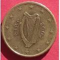 Ирландия,  10 евроцентов, обращение. Год: 2002