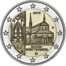 Германия, 2 евро,  Федеральная земля Баден-Вюртемберг, монеты из ролла. Год: 2013
