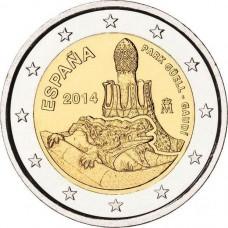 Испания, 2 евро, Парк Гуэль, монета из ролла. Год: 2014