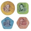 Подборка композитных (пластиковых) монет Приднестровья, год: 2014