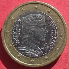 Латвия, 1 евро, обращение. Год: 2014