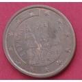 Испания,   5 евроцентов, обращение.  Года: 1999, 2004, 2005, 2006