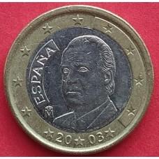 Испания, 1 евро, обращение. Года: 1999, 2000, 2001, 2002, 2003, 2004, 2006