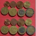 Франция, подборка евромонет 1 евроцент - 2 евро (8 монет), года: разнобой 1999-2013 из обращения