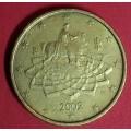 Италия,  50 евроцентов, обращение. Год: 2002