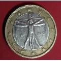 Италия, 1 евро, обращение. Года: 2002, 2006