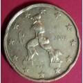 Италия,  20 евроцентов, обращение. Года: 2002, 2003