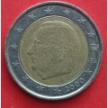 Бельгия, 2 евро, обращение. Года: 2000, 2004