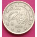 Испания,  50 евроцентов, обращение. Года: 1999, 2000