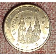 Испания, 1 евроцент, обращение. Года: 2003, 2008