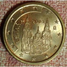 Испания, 2 евроцента, обращение. Года: 2001