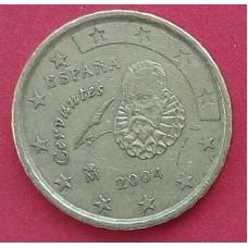 Испания,  10 евроцентов, обращение. Года: 2000, 2002, 2003, 2004, 2005