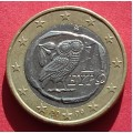 Греция, 1 евро, обращение. Год: 2009