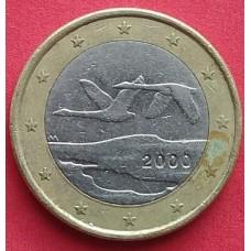 Финляндия, 1 евро, обращение. Год: 2000