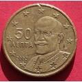 Греция,  50 евроцентов, обращение. Год: 2003