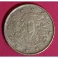 Италия,  10 евроцентов, обращение. Года: 2002, 2005