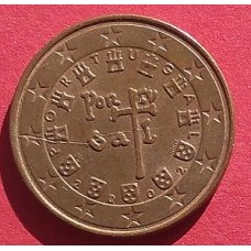 Португалия, 5 евроцентов, обращение. Год: 2002