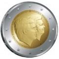 2 евро, Нидерланды, 2014 год, Король Виллем-Александр и принцесса Беатрикс, монета из ролла