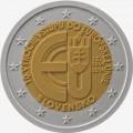 2 евро, Словакия, 2014 год, 10 лет членству Словакии в ЕС, монета из ролла