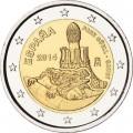 2 евро, Испания, 2014 год, Парк Гуэль, монета из ролла