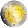 2 евро, Бельгия, 2013 год, 100 лет Королевскому метеорологическому институту Бельгии, монета из ролла