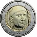 2 евро, Италия, 2013 год, 700 лет со дня рождения Джованни Боккаччо, монета из ролла
