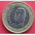 Испания, 1 евро, обращение. Год: 2008