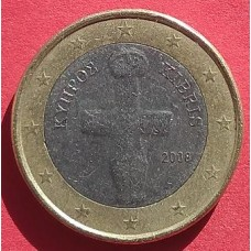 Кипр, 1 евро, обращение. Год: 2008