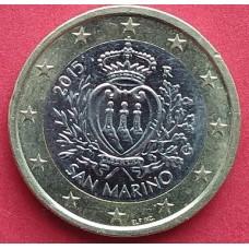 Сан-Марино, 1 евро, обращение. Год: 2015