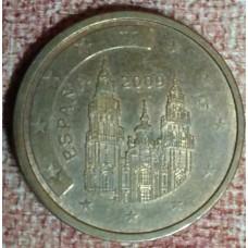 Испания, 2 евроцента, обращение. Год: 2009