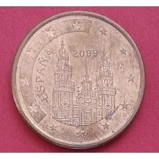 Испания, 5 евроцентов, обращение. Год: 2009