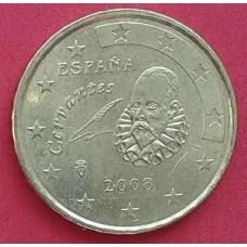 Испания,  10 евроцентов, обращение. Года: 2007, 2008