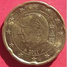 Бельгия, 20 евроцентов. обращение. Год: 2011