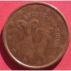 Кипр, 5 евроцентов, обращение. Года: 2008, 2011