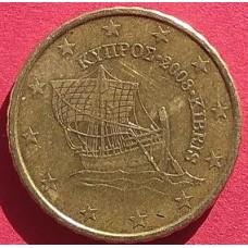 Кипр, 10 евроцентов, обращение. Год: 2008