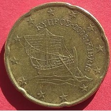 Кипр, 20 евроцентов, обращение. Год: 2008