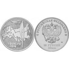 25 рублей XXII Олимпийские игры 2014 года в Сочи: Олимпийский Факел 2014 год состояние: монета в запайке